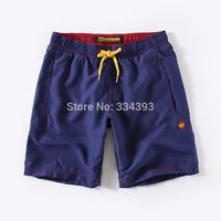 2014 swimming shorts quick-drying fabric elastic waist drawstring shorts in belt beach