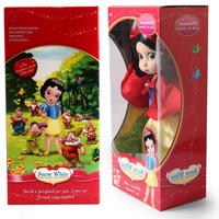 New stock retail 26CM princess animators collections Snow White PRINCESS Doll Sharon Doll with retail Box action Gift For Girl