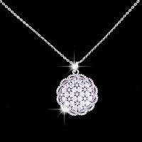 Luxury inlaying quality flower necklace zircon fashion pendant luxury accessories female