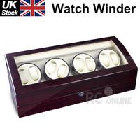 Ebony 8 Piano wood Automatic Watch Winder Display Box 8+ 9 Leather storage UK Stock no Custom Taxes