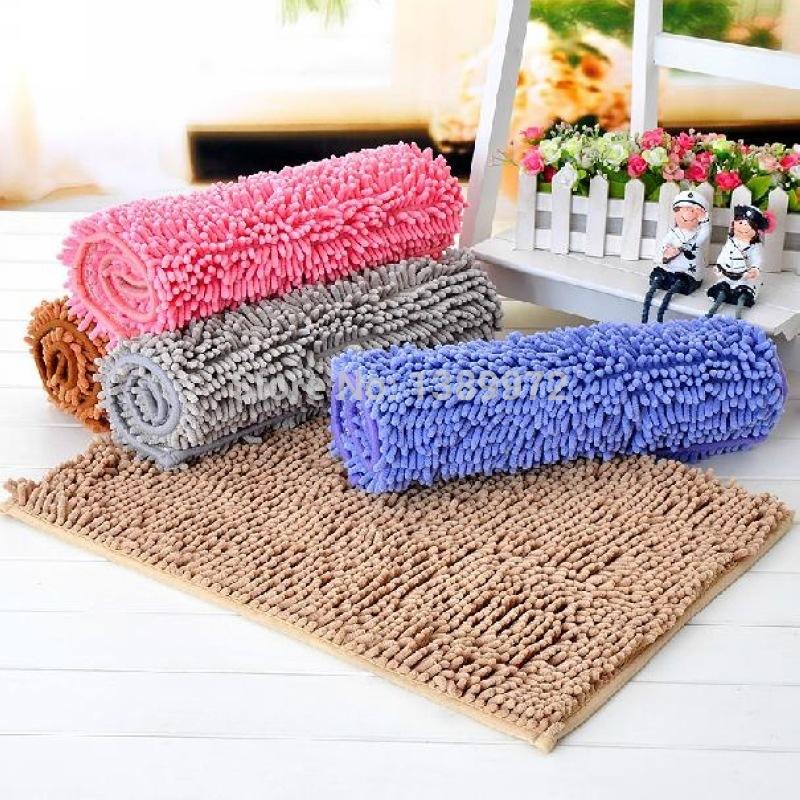 Pisos De Goma Para Baño: piso alfombra de baño del Chenille 40 x 60 cm de piso de goma de la