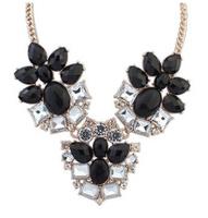 Shourouk Flower Crystal Gem Chunky Choker Collar Statement Necklaces & Pendants New 2014 Fashion Jewelry Women Wholesale N155
