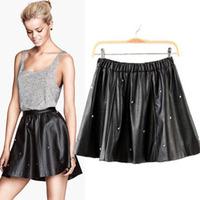 #YZX721 New 2014 Fashion Women Girls' Mini Short Skirts PU Lovely Skirt Free Shipping