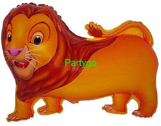Novas 50pcs / lot Chegada animal cartoon alumínio leão folha balão de festa de aniversário decoração balão de hélio(China (Mainland))