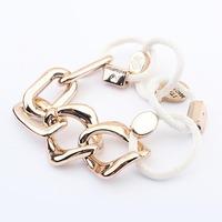2014 Hot Sale Fashion Bracelet Hand Made Chain Buckle Retro Stretch Bracelet Alloy Bracelets&Bangles For Woman  FreeShipping