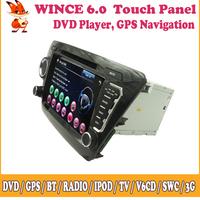 Wince Car GPS DVD Sat Nav Support 3G iPod Radio Video Audio Steering Wheel Control BT TV Touch Screen For Kia K2/Rio 2011 2012