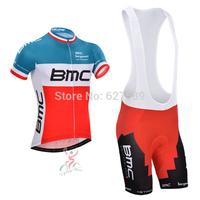 BMC 2014 Cycling Jersey bib kit Short Sleeve bib Shorts ropa Ciclismo fitness clothes bicycle Cycling tight/clothing Maillot MTB