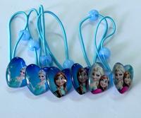 3 pair/lot  New Frozen Elsa Anna  Princess Elastic Hair bands Children Hair accessories  Kids Gifts Girls Party favors H021