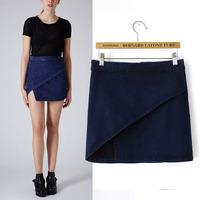 #YZX722 New 2014 Fashion Women Girls' Mini Short Skirts Lovely Denim Skirt Free Shipping