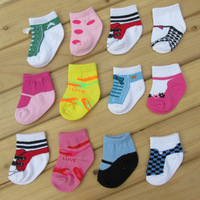 Warm soft cotton baby boys girls socks baby clothing accessories booties floor infant socks homewear 10pair=20 pices ks10