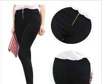 Fashion Casual Pants Women Cotton Pants Slim Lady Trousers Skinny Capris Black White Woman Zipper Pencil Pants Leggings W00303
