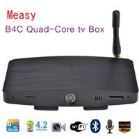 B4C Quad-Core tv Box RK3188 Quad Core Android 4.2 1GB RAM 4GB ROM Bluetooth Microphone HD Camera WiFi Player 5 pcs/lot