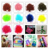 300pcs/lot wheel gear creative weaver noctilucent pearl children DIY bracelet rubber loom bands
