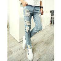 Top Craftsmanship!Free shipping!2014 fashion famous brand jeans men ripped pants mens denim trousers torn plus size