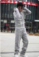 New man hoody casual men's hoodie sweatshirt brand sports suit 3color hooded jackets coat plus thick fleece male hooded WZ16