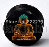 Buddha designs acrylic screw Plug Tunnel Ear Plug Flesh Tunnel Tunnel Gauges body jewelry  MJEPG39021