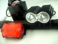 Hot 5000Lumen 2x CREE XM-L U2 LED Front bike Bicycle Light Lamp Headlight Headlamp+12000mAh Battery +8.4V Charger+Tail light