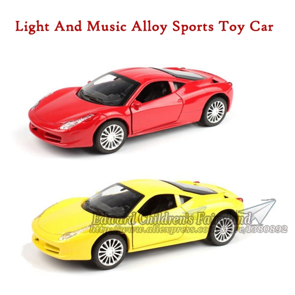 2014 One Piece Hot Wheels Car Miniature Toy For Children Alloy Flashing Music Pullback Car Small Boy Gift Free Shipping(China (Mainland))