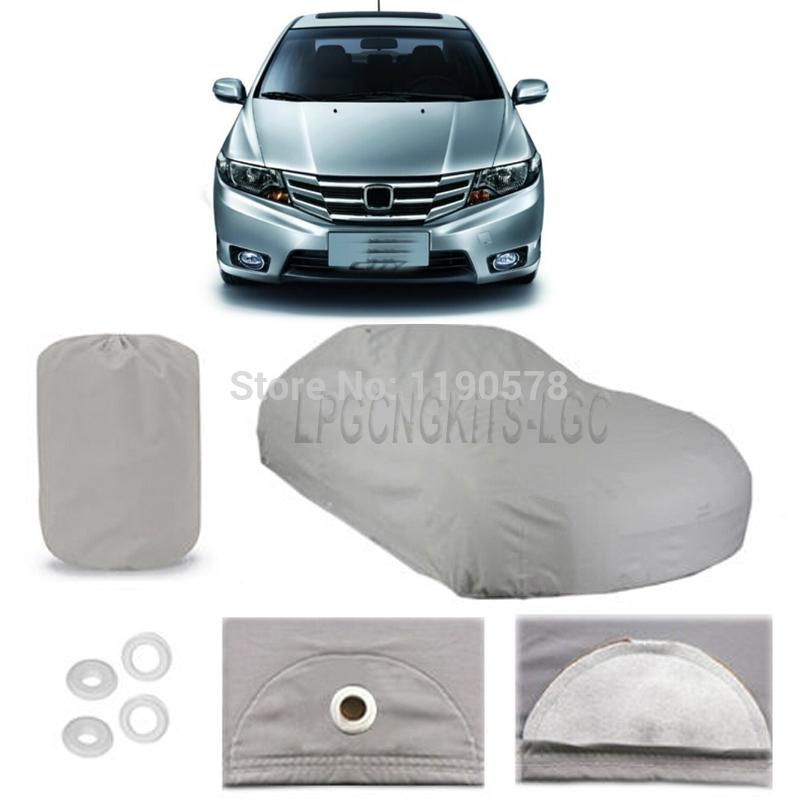 100%Peva Car Cover Outdoor Waterproof Rain Snow Uv Dust for Honda City(10-13)(China (Mainland))