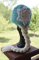 free shipping,Frozen Snow Queen Elsa crochet Hat,Children's Hat- Toddler to Teen/Adult 100% cotton