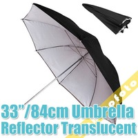 "33"" Studio Black/Silver Reflector/Translucent Umbrella PSCU7A free shipping"