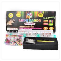 1 set 600pcs rubber loom bands + Crochet Hook +Mini Hook+c clips+s clips
