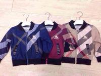 Retail  Brand   2014  New  fashion  spring/autumn  children's  coat   long  sleeve  turnleneck   plaid   pattern  boy's  coat