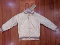 2014  New  Retail  Brand   fashion  spring/autumn  children's  coat  long  sleeve  turnleneck  striped  pattern  boy's  coat