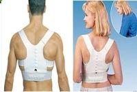 Hot 1Pcs Adjustable Unisex Magnetic Posture Support Corrector Elastic Back Shoulder Posture Care Corrector Belt L/XL AY871349