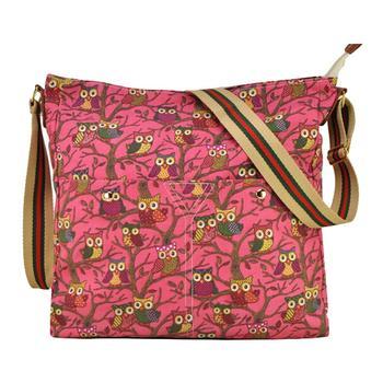 женская мода сова печатных кроссбоди плечо сумка сумка( qq1688)- роуз
