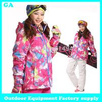 Dropshipping New arrival popular in Russian warm print jackets ski snowboard waterproof windproof coat winter snow jacket women