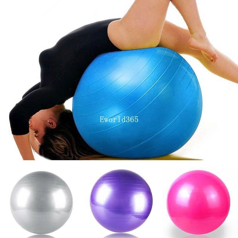 2014 Fashion Hot Style 75cm Exercise Workout Fitness Gym Yoga Anti Burst Swiss Core Ball Gray/Purple/Blue/Pink(China (Mainland))