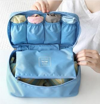 Organizador 2pcs / Lot Sale Wholesale Price Cosmetic /underwear/bra Storage Box Home Bag Sorting Bags Travel Underwear Pouch(China (Mainland))