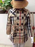 Retail   Brand  2014   New   fashion  spring/autumn  children;s  windbreaker  long  sleeve  turn-down   collar  girl's  coat