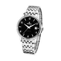 WOERDA  Automatic mechanical watch men ultra-thin stainless steel business wrist watches waterproof hollow out men's watch