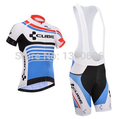 Can be mixed size 2014 cube Team Bike Jersey cycling jersey short sleeve Cycling wear bib shorts sets-ZK-029 Free shipping(China (Mainland))