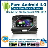 Pure android 4.0 Car DVD for Kia Sportage R with gps navigation Audio bluetooth car kit TV USB Wifi 3G radio Free shipping 2360