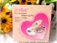 New  Fashion Lady Flower shape Makeup set 20 colors Eyeshadow+2 colors blush+ 2 colors powdwe+4 colors lip gloss