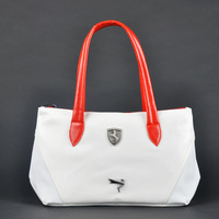 White PU leather gym bag  sport bag for women/men,fashion gym totes carry on luggage brand items GB183