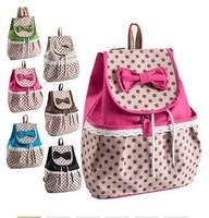 New 2014 Girls School Bags Cut Bow Women Canvas Backpacks Korean Preppy Travel Bags Women Desigual Bag Free Shipping