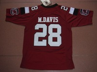 2014 youth South Carolina Gamecocks 28 Mike Davis kids College Football Jerseys size s-xl