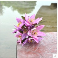 Free shipping  new design lotus artificial flowers wedding bouquet wedding and home decoration