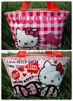New Hello kitty lunch bag 2PC cute Handbag Girls Handbag