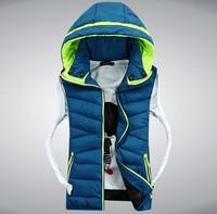 HS-15 Men vest 2014 Autumn winter Casual Sleeveless jacket Lover women and men waistcoat Men's vest Down vest Winter jacket men