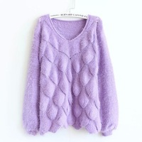 New winter  South Korea loose mohair sweater women thickening fashion sweaters dress,free shipping