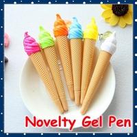 [FORREST SHOP] Korean Stationery Icecream 0.38mm Cute Gel Pen Black Ink Color / School Supplies Kawaii Pens For School UP-8051