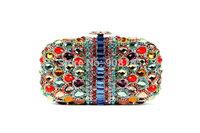 free shipping 2014 new Multi stone fashion women evening bags crystal chain clutch bags B4782