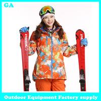 Dropshipping new 2014 Warm Skiing Jackets Winter Windproof Outdoor Hiking Sports Waterproof Jacket suit snowboard jacket women