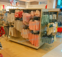 children's garments store display retail fixture MDF wooden high quality China