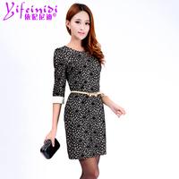 2014 autumn lace one-piece ol elegant slim  dress